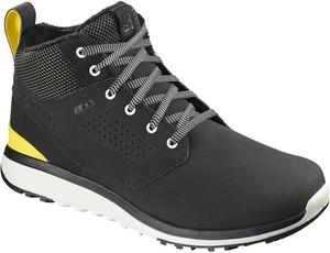 Czarne buty sportowe Salomon w sportowym stylu