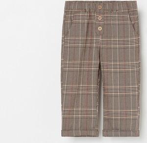 Brązowe spodnie dziecięce Reserved dla chłopców w krateczkę
