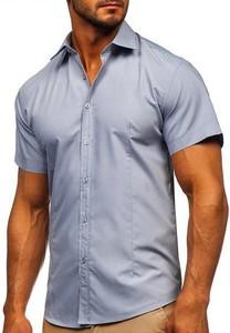 Niebieska koszula Denley z bawełny w stylu casual
