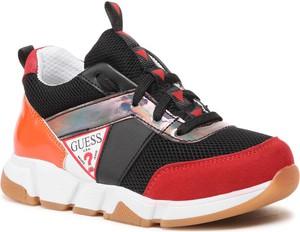 Buty sportowe dziecięce Guess sznurowane dla dziewczynek
