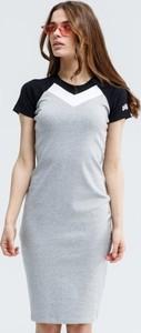 Sukienka Up8 z okrągłym dekoltem mini z krótkim rękawem