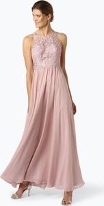 Sukienka Laona maxi z szyfonu z okrągłym dekoltem