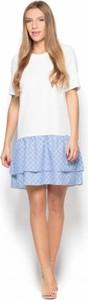 Sukienka Katrus mini z krótkim rękawem z okrągłym dekoltem