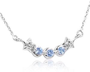 Braccatta ninon ; srebrny naszyjnik, wisiorek z blue topaz
