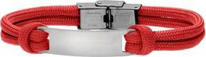 Manoki BA702C czerwona bransoletka męska z blaszką pod grawer