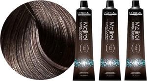 L'Oreal Paris Loreal Majirel Cool Cover | Zestaw: trwała farba do włosów o chłodnych odcieniach - kolor 6.1 ciemny blond popielaty 3x50ml