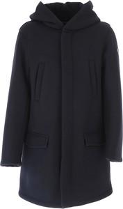 Czarny płaszcz dziecięcy Emporio Armani z bawełny