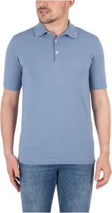 Niebieska koszulka polo Altea z krótkim rękawem w stylu casual