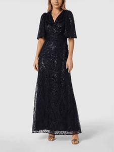 Sukienka Ralph Lauren z krótkim rękawem z dekoltem w kształcie litery v z szyfonu