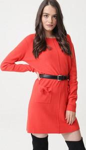 Różowa sukienka born2be z długim rękawem w stylu casual mini