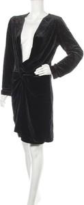Czarna sukienka Lioness z długim rękawem z dekoltem w kształcie litery v