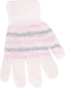 Różowe rękawiczki yoclub w paski