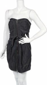 Granatowa sukienka Arden B. mini gorsetowa