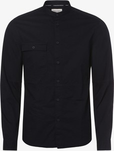 Granatowa koszula Marc O'Polo DENIM z długim rękawem ze stójką
