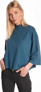 T-shirt Gate z długim rękawem z bawełny