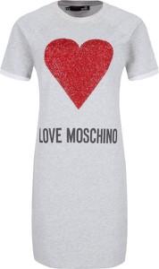 Sukienka Love Moschino w stylu casual z krótkim rękawem z okrągłym dekoltem