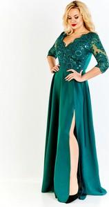 Sukienka Bosca Fashion z dekoltem w kształcie litery v dla puszystych z tkaniny