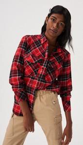 Czerwona koszula Sinsay w stylu casual z bawełny
