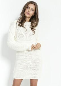 Sukienka Fobya z wełny mini z długim rękawem