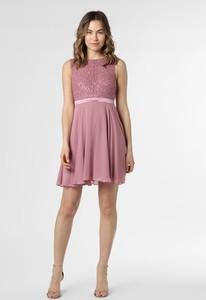 Różowa sukienka Marie Lund mini bez rękawów