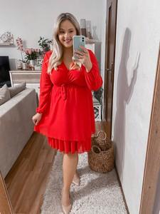Czerwona sukienka Produkt Włoski mini