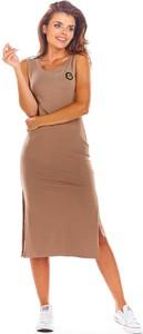 Brązowa sukienka Infinite You z bawełny