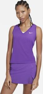 Fioletowy top Nike w sportowym stylu