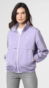 Fioletowa kurtka Calvin Klein w stylu casual