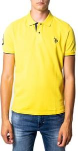 Koszulka polo U.S. Polo z bawełny z krótkim rękawem w stylu casual