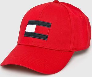 Czerwona czapka Tommy Hilfiger
