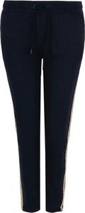 Niebieskie spodnie Trussardi z dresówki