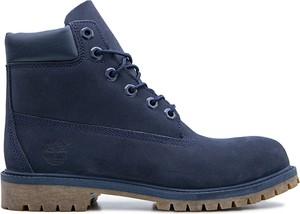 Niebieskie buty trekkingowe Timberland sznurowane