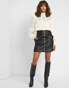 Czarna spódnica ORSAY mini ze skóry