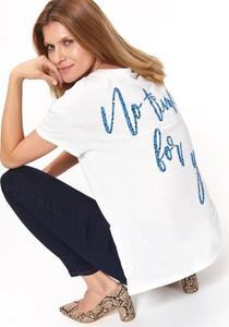 T-shirt Top Secret z okrągłym dekoltem z krótkim rękawem z bawełny