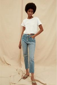 Niebieskie jeansy Trendyol