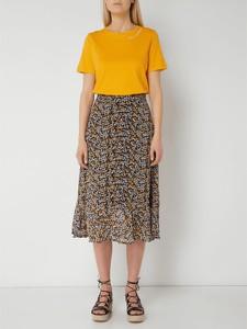 Brązowa spódnica Gestuz midi w stylu casual