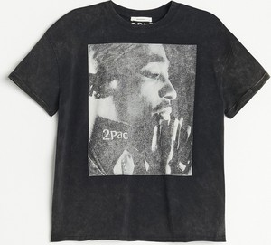T-shirt Reserved z krótkim rękawem z okrągłym dekoltem
