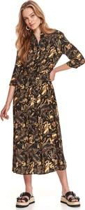 Sukienka Top Secret koszulowa z długim rękawem w stylu casual