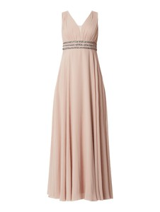 Sukienka Jake*s Cocktail z szyfonu bez rękawów z dekoltem w kształcie litery v