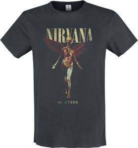 Czarny t-shirt Nirvana z nadrukiem