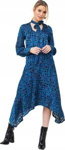 Sukienka V by Very midi z długim rękawem w stylu casual
