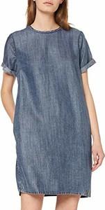 Sukienka amazon.de oversize mini z okrągłym dekoltem
