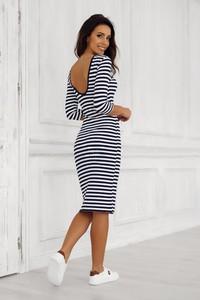 24510e58ae sukienka w marynarskie paski. - stylowo i modnie z Allani