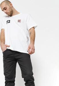 T-shirt Element w stylu casual z krótkim rękawem z bawełny