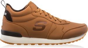 Buty sportowe Skechers sznurowane w sportowym stylu ze skóry