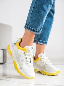 Buty sportowe Czasnabuty z zamszu na platformie sznurowane