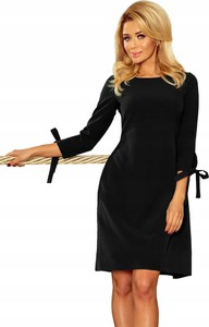 Sukienka NUMOCO z okrągłym dekoltem mini z długim rękawem