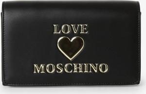 Czarna torebka Love Moschino mała ze skóry