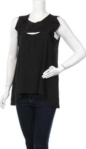 Czarna bluzka Rinascimento z okrągłym dekoltem w sportowym stylu