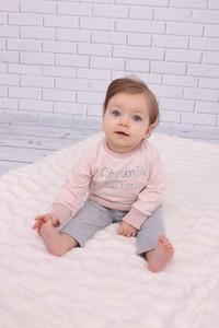 "Malani komplet różowa bluza ""córeczka tatunia"" i szare spodnie"